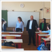 Interactive English class at Corvin Mátyás Grammar School in Budapest