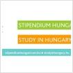 Stipendium  Hungaricum Scholarship 2018/2019